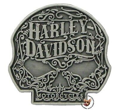 Harley Davidson Willie G Ornate Skull Vest Pin Motorcycle Jacket Biker