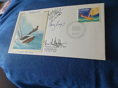 1976 Olympics Sailing Autographed FDC Envelope Signed by 4
