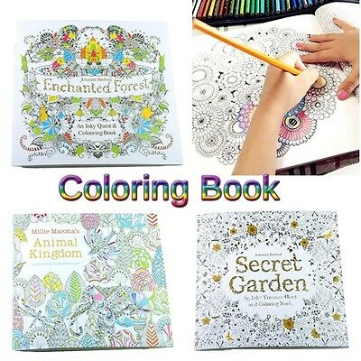 Hot Children Adult Secret Garden An Inky Treasure Hunt Coloring Painting Book