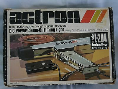 Actron D.c. Power Clamp On Timing Light Model L-204 Inductive Style No 6132 Mint