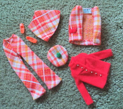 #1767  Francie Plaid Plans Outfit Very Nice -- Only Missing Grn Scarf ~~~