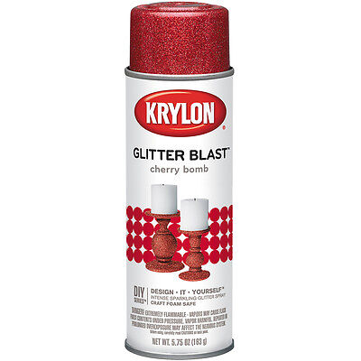 """Glitter Blast Aerosol Spray 5.75oz-Cherry Bomb, Set Of 2"""