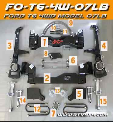 """FORD RANGER PX 4WD 2012/2016  7"""" inch  Heavy Duty suspension lift kit."""