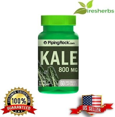 1-Pack Kale 4:1 Extract 800 Mg Vegetable Dietary Supplement Pills 60 Capsules
