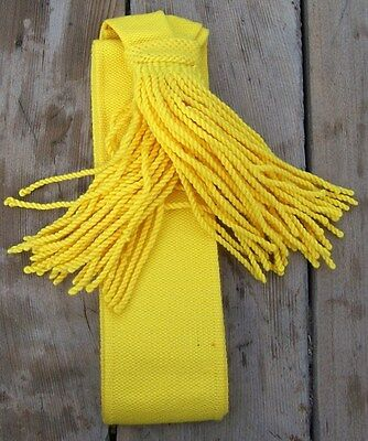 Civil War Yellow Cavalry Officers Wool Sash