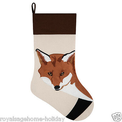"""842532344A Brown Fox 20"""" Christmas Stocking Hunting Forest Animal Wild Crazy"""