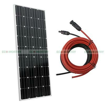 160W Watt 12V Mono SOLAR PANEL Kit w/PV Cable and MC4 Connector Charger Off Grid