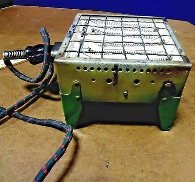 Antique Toaster Electric Flatbed Vintage Combination Table Stove Toaster Rare