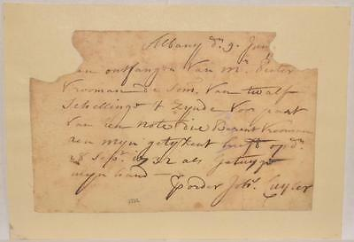 1732 Colonial Albany New York Dutch Legal Document Cuyler Family Early Settlers