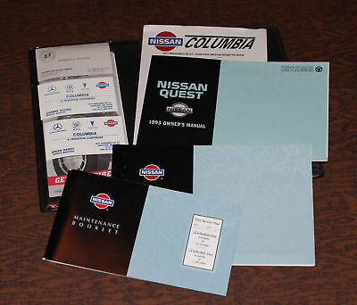 1993 Nissan Quest Manual and cover