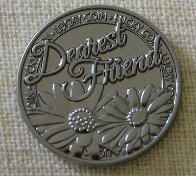 Dearest Friend Pocket Token Lucky Coin  Pewter Inspirational NIP One of a Kind