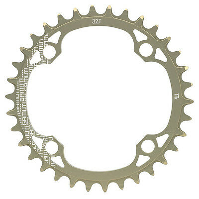 GAMUT THICK THIN 4/104 32T CHAINRING SILVER New