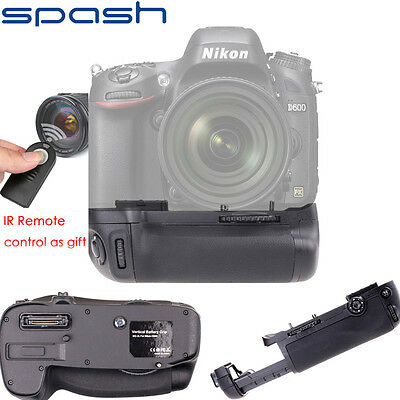 Nikon D600 D610 Battery Grip Work With EN-EL15 Battery+IR Remote Control