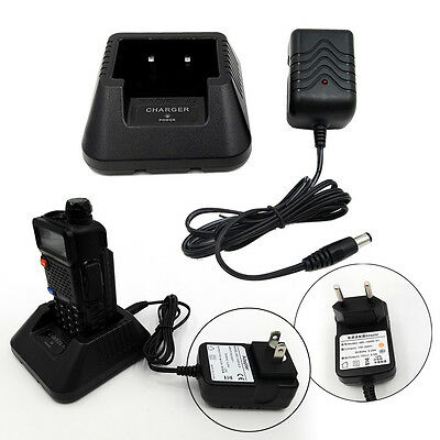 Universal Radio Li-ion Battery Charger + Adapter for Baofeng UV-5R Walkie Talkie