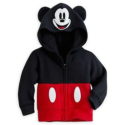Minnie Mickey Mouse Ears Kid Toddler Boy Girl Hoodie Jacket Sweatshirt Coat