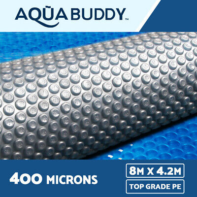 Solar Swimming Pool Cover 400 Micron Outdoor Bubble Blanket 8M x 4.2M