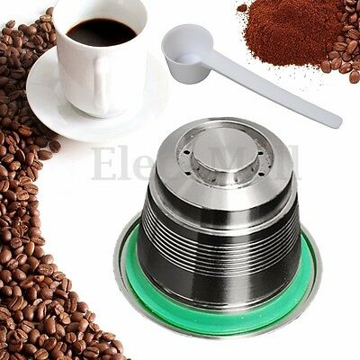 Stainless Steel Refillable Reusable Coffee Capsule For Nespresso Espresso New