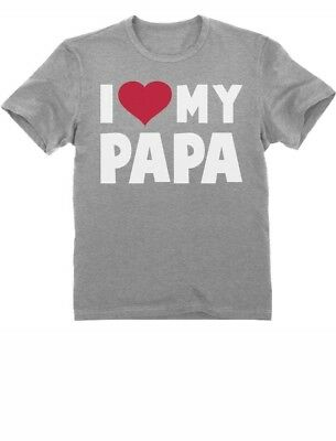 I Love Heart My Papa Father's Day Gift Toddler/Infant Kids T-Shirt