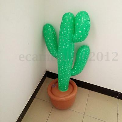 3Ft Inflatable Blow Up Cactus Desert Mexican Hawaii Pool Beach Party Prop Decor