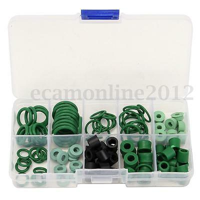 R134A A/C AC HVAC O-Ring Seal Kit Assortment 10 Sizes Gomma Rings