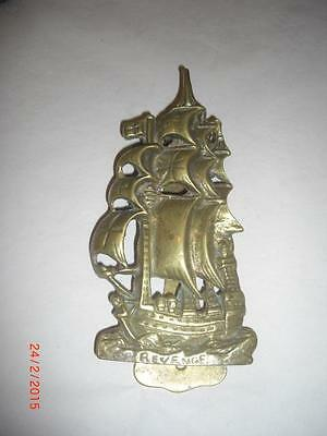 Sailing Ship Revenge Brass Door Knocker