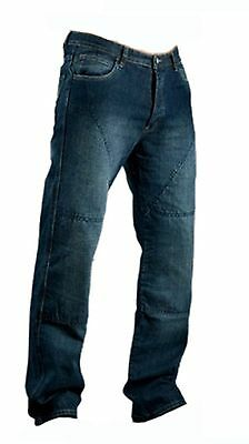 Mens Motorcycle Motorbike Blue Jeans Trouser With Aramid Protective Lining