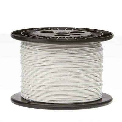 "18 AWG Gauge Solid Hook Up Wire White 1000 ft 0.0403"" UL1007 300 Volts"