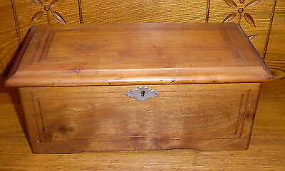 Antique Hand Crank Swiss? Cylinder Music Box - 41 Tooth Comb - Needs Worked On