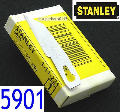 Stanley 5901 Scalpel Trimming Craft Knife Handle Blades Pack of 2, 10, 20, 50