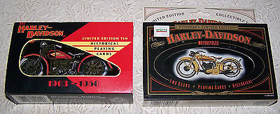 Limited Edition Harley-Davidson Playing Cards in Collector Tins (2)