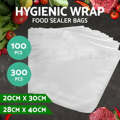 100/200/300 PCS Vacuum Food Sealer Bags Saver Storage Precut Rolls Commercial