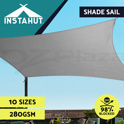 Instahut Sun Shade Sail Cloth Shadecloth Outdoor Canopy Rectangle 280gsm