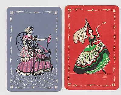 Fairy Godmother & Cinders. 2 Only Single Vintage Playing/swapcards..