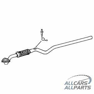 Vauxhall Astra G Zafira 1.8 99-05 Exhaust Front Centre Pipe + Fitting Kit -GM428