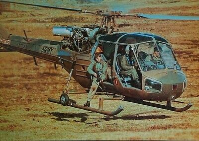 After The Battle J49 Westland Scout AH.1 XR635 Army Postcard