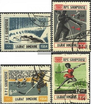 Albania 793-796 (complete issue) used 1963 Winter Olympics `64,