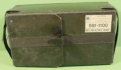 Schmidt Rubin 7.5 Original Swiss Cardboard Ammo Box With Belt & Buckle~7.5 Swiss