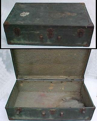 8x15x26 Antique Wood & Press Paper Suitcase Rough Warped Missing Handle - Parts