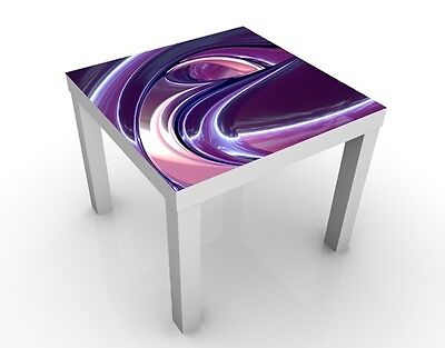 (35,26£/1Stk) Design Table Circles in Purple 55x55x45cm