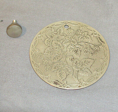 Antique Vintage Grape Leaf Singer Sewing Machine Round Rear Cover Plate 15 127