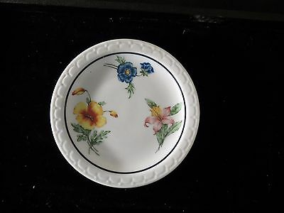 Southern Pacific Lines Onondaga Pottery Plate Prairie Mountain Wildflowers 5.5in