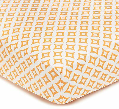 American Baby Company 100% Cotton Percale Fitted Crib Sheet, Orange Tweedle Dee