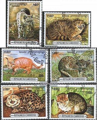 Cambodia 1569-1574 (complete issue) used 1996 Small Cats