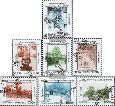 Cambodia 1697-1703 (complete issue) used 1997 Tempelanlage Angk