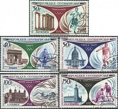 Central African republic. 304-308 (complete issue) used 1972 Go