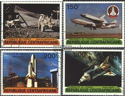 Central African republic. 736-739 (complete issue) used 1981 Co