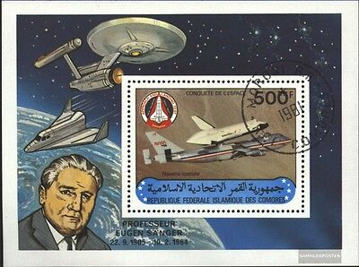 Comoros block227 (complete issue) used 1981 Space