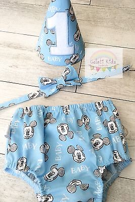 Baby Mickey Mouse Cake Smash Set / 1st Birthday Outfit / Photo Prop