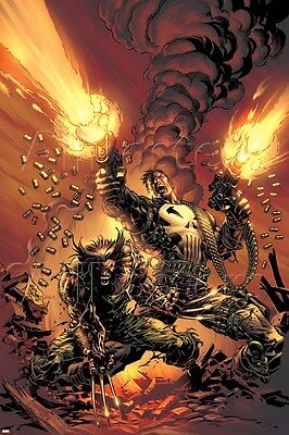 Marvel Wolverine Punisher No.1 Cover: Wolverine and Punisher Poster - 24x36