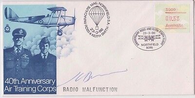 Stamp 1986 flight cover 40th anniversary air training corps radio malfunction